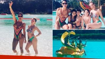 Gisela Bernal y Claudia Fernández, dos diosas divirtiéndose en la playa