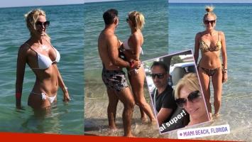 Las vacaciones de Yanina y Diego Latorre en Miami: lomazo y amor en el mar