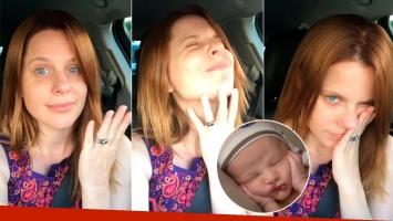 Agustina Kämpfer, atrapada en pleno embotellamiento con su bebé de dos meses