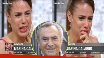 Mariana Calabró quebró en llanto al hablar de su papá (Fotos: Captura y Web)