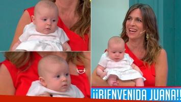 Sandra Borghi mostró por primera vez en la TV a su hija de tres meses