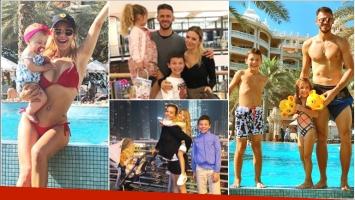 La vacaciones de Evangelina Anderson con su familia en Dubai (Fotos: Instagram)
