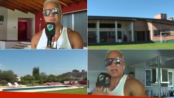 Flavio Mendoza abrió las puertas de la enorme casa que alquiló en Carlos Paz