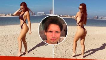 Natalie Weber posteó dos fotos infartantes y Mauro Zárate le hizo un polémico reto. (Foto: Instagram)