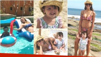 Las vacaciones de Floppy Tesouro con su hija Moorea en Punta del Este (Fotos: Instagram)