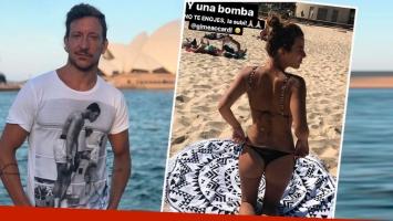 Nico Vázquez publicó una foto súper sexy de Gimena Accardi ¡sin su permiso