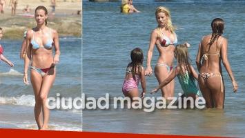 Las vacaciones de Nicole Neumann junto a sus hijas en Punta del Este (Fotos: GM Press Punta)