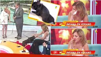 El llanto de Cora Debarbieri tras ver a quien era su perro y adoptó Luis Ventura (Fotos: Captura)