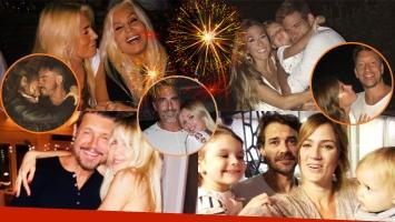 Así celebraron los famosos el Año Nuevo: mucho amor, postales familiares y buenos deseos para el 2018