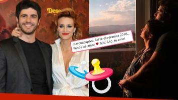 Mónica Antonópulos y Marco Antonio Caponi confirmaron que esperan un hijo con una foto súper dulce: Así te...