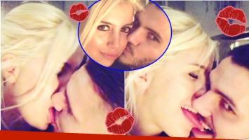 El tremendo beso con lengua de Wanda Nara con Icardi para recibir el 2018 (Fotos: Capturas de Instagram e Instagram)