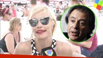 La reacción de Ingrid Grudke cuando le preguntaron si seguía enamorada de Cristobal López (Foto: Captura y Web)