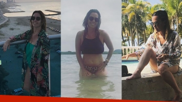 El álbum íntimo de las vacaciones de Pía Shaw en Colombia: ¡destape sexy en el mar!