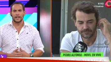 La reacción de Pedro Alfonso cuando le preguntaron por los rumores de romance con Flor Vigna (Fotos: Web y Captura)
