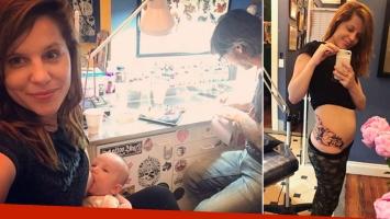 El enorme tatuaje floral de Agustina Kämpfer