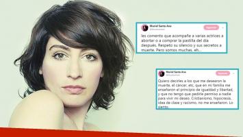 Fuertes tweets de Muriel Santa Ana en medio del debate por el aborto: Acompañé a varias actrices a abortar o a...
