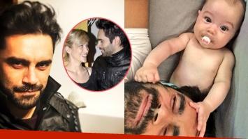 Gonzalo Heredia y una divertida selfie con su beba Alfonsina: Acá, en Punta del Oste