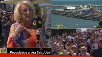 El sentido homenaje de Mirtha Legrand en Mar del Plata a los tripulantes del ARA San Juan