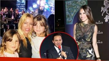 Pampita y Nicole Neumann coincidieron en un recital de Cristian Castro