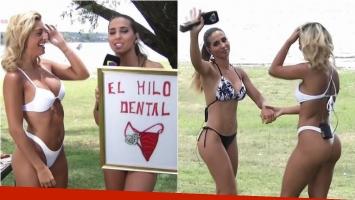 Cinthia Fernández le entregó el Hilo Dental de Oro a Sol Pérez en Involucrados
