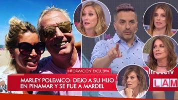 Los Ángeles de la Mañana: fuerte debate luego de que Marley y Flor Peña dejaran a sus bebés en Pinamar para ir a...