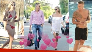 Alejandro Fantino, muy enamorado de su flamante novia en Punta del Este (Fotos: revista Gente)