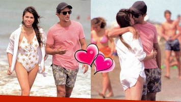 Joaquín Furriel y Eva de Dominici, enamorados en la playa: ¡arrumacos frente al mar!
