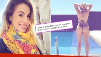 La foto en bikini de Laura Esquivel con una profunda reflexión (Fotos: Instagram)