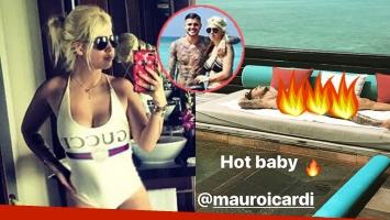 Wanda Nara mandó al frente a Mauro Icardi con una foto hot