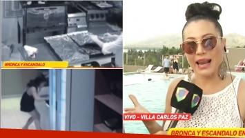 Adabel Guerrero, ¿infraganti robando comida en el teatro? (Fotos: Captura)