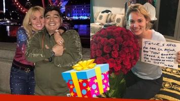 El lujoso festejo de aniversario de Diego Maradona y Rocío Oliva: mensaje de amor, sorpresa top y súper regalos