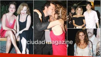 Dolores Fonzi y Cecilia Roth debutaron con la obra Entonces, la noche: romántico beso y cumbre de famosos (Fotos: Movilpress)