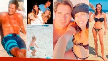 Las vacaciones familiares de Guillermo Andino en Uruguay