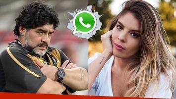 Los audios de Diego  y Dalma Maradona sobre la boda de la actriz