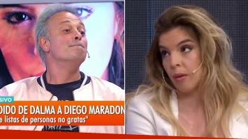 ¡¿Se escuchó al aire?! Fuerte exabrupto en vivo de Tartu con Dalma Maradona: pensó que le habían corta el...