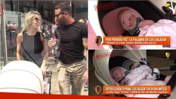 Luciana Salazar llegó al país con su hija, Matilda: Siempre va a estar primero ella antes que yo