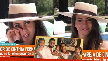 Cinthia Fernández lloró en Intrusos por su crisis con Matías Defederico: Hoy hablamos lo justo y necesario