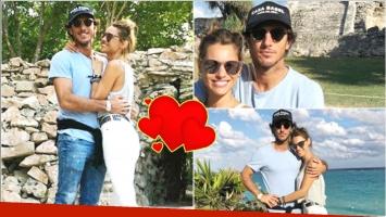 Las postales románticas de Pampita y Pico Mónaco en Tulum (Fotos: Instagram)