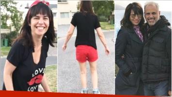 El video de Jorge Rial filmando a su novia mientras anda en rollers (Fotos: Captura)