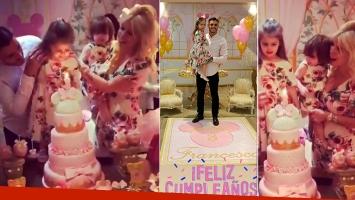 El súper cumpleaños de Francesca, la hija de Wanda Nara y Mauro Icardi