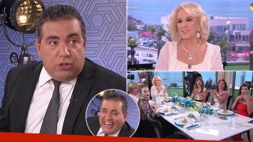 Diego Pérez llegó media hora tarde a la mesa de Mirtha Legrand