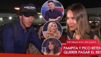 """La mala onda de Pico y Pampita en su llegada a la Argentina… y las picantes críticas en LAM: """"Una cara de ort…..."""