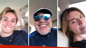 El video de la reconciliación de Diego con Dalma Maradona