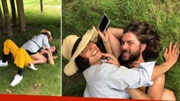 Flor Torrente y Joaquín Vitola, infraganti a los besos en un parque
