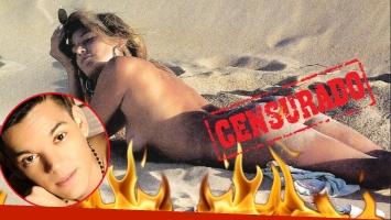 El desnudo total de Marian Farjat en Punta del Este (Fotos: revista Pronto y Ciudad Magazine)