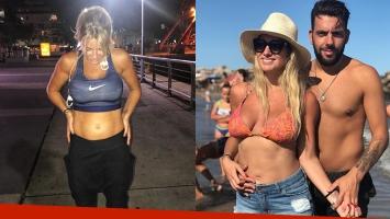 Ailén Bechara mostró su pancita de cuatro meses con un look deportivo mientras se ejercitaba: Creciendo de a...