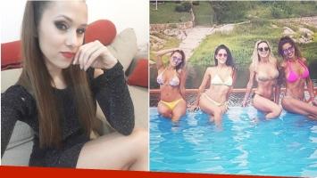 Barby Silenzi en una tarde de pileta con Celeste Muriega y Pamela Sosa (Fotos: Instagram)