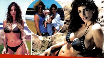 Gabriela Sari recuperó su lomazo a cuatro meses de dar a luz a Donna. (Foto: revista Gente)
