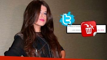 El sugerente tweet de Loly Antoniale, que luego borró