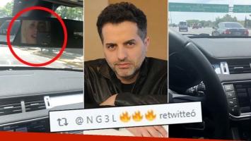 Wanda Nara, irresponsable al volante: se graba con su celular mientras conduce